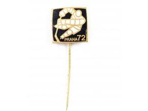 Odznak hokej, MS Praha, 1972, Black