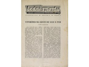 Brožura Sokol, Lední sporty I, 1949
