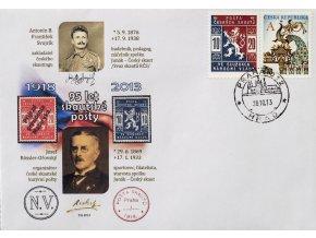 Přítisk obálka 95. let skautské pošty, Rossler Ořovský, 2013