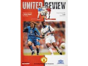 Program fotbal, Manchester United vs Slavia Praha, friendly, 1997 (1)