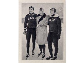 Kartička Olympia, Cortina d'Ampezzo, 1964 , Schilkov, Hjalmar, Gontscharenko