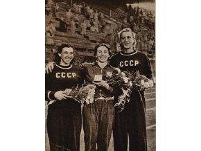 N36 Dana Zatopková oštěp Helsinky 1952 III sport antique 30 7 17 (67)