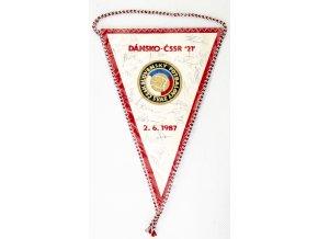 Klubová vlajka fotbal, ČSSR 21 vs. SRN 21, podpisy hráčů 1985DSC 1092