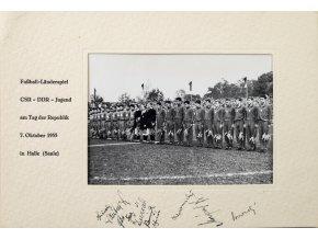 Pamětní list fotografie, CSR DDR Jugend, autogramy 1955 (2)