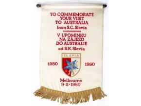 Klubová vlajka, V upomínku na zájezd do Austrálie od S.K. Slavia