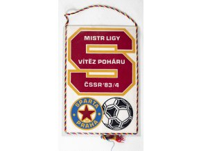 Klubová vlajka Sparta Praha, vítěz poháru ČSSR 8384