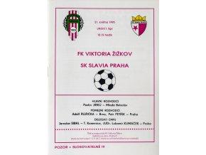 Program FK Viktoria Žižkov vs. SK Slavia Slavia,1995