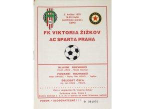 Program FK Viktoria Žižkov vs. AC Sparta Praha ,1993
