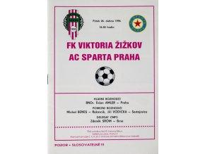 Program FK Viktoria Žižkov vs. AC Sparta Praha ,1996