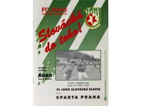 Program FC JOKO Slovácká Slavia v. Sparta Praha, 1995