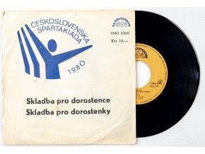 Gramofonová SP deska, Československá spartakiáda, 1980 (1)