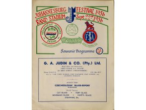 Program souvenir Dynamo club of Prague v. An Invitation Eleven, autogramy, 1956 (1)