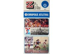 Brožura skládací, Evropská atletika, 9 (1) 1