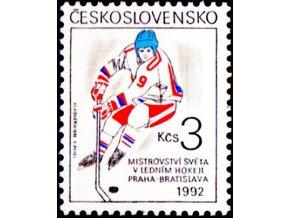 MS 1992 hokej znamka