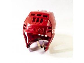 Hokejová přilba OKULA, červená (1)