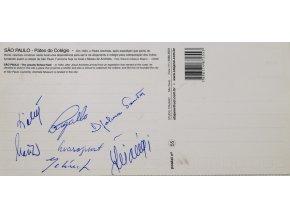 Pohlednice autogramy fotbal ČSSR, Sao Paulo (2)