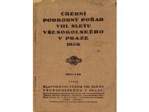 Brožura Sokol, VIII. Všesokolský slet, Úřední podrobný pořad, 1926 (1)