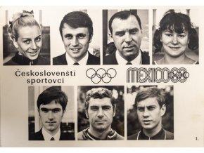 Fotografie Čs. sportovci, Mexico, 1968I (1)