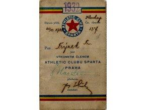 Členská legitimace Athletic clubu Sparta, 1932 (1)