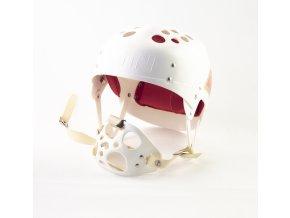 Hokejová přilba ON s náhubkem, bílá (1)