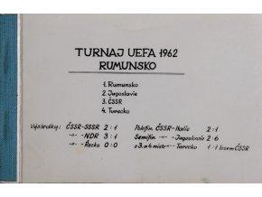 Soubor fotografií, fotbal, Turnaj UEFA, Rumunsko 1962 (1)
