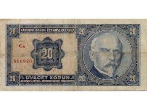 Bankovka, 20 Korun, serie Ce Rašín, 1926 (1)