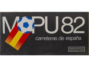 Mapa Španělska s hostitelsými městy MS fotbal, MAPU 82