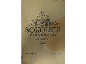 Sokolice, list pro sokolskou výchovu žen, Roč. XX, číslo 4, 1928