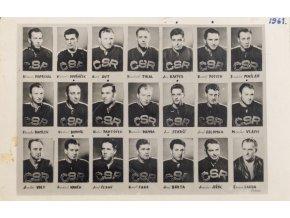 Foto tým ČSSR, hokej 1961 (1)