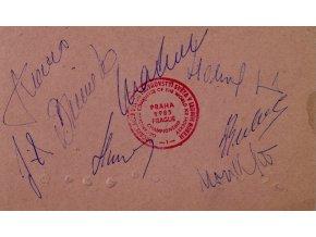 Vstupenka permanentka MS hokej Praha, 1985 autogramy (2)