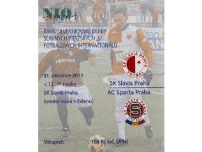 Vstupenka fotbal SK Slavia Praha vs. AC SPARTA Praha, Silvestrovské Derby2012