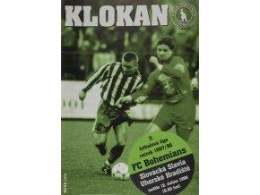 Program Klokan, FC Bohemians Praha vs. Slovácká Slavia, 1998