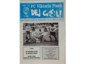 Program FK Viktoria Plzeň v. AC Sparta Praha, 1994