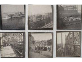 Soubor fotografií, SOKOL, z cesty do New Yorku, 1908 (1)