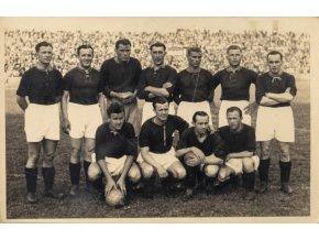 Dobová fotopohlednice, AC Sparta Praha, 1936, nadepsaná (1)