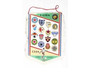 Vlajka I. liga fotbalu  1987/1988, velká II