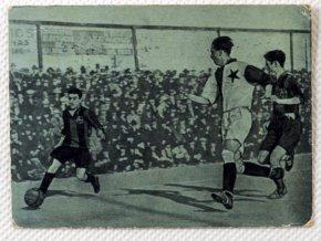 Kartička z utkání Slavia v. Barcelona, 39 (1)