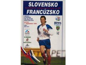 Program fotbal Slovensko v. Francúzsko, 1994