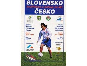 Program fotbal Slovensko v. Česká republika, 1994