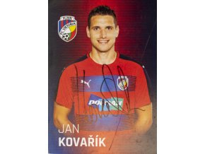 Karta, autogram Jan Kovařík, Plzeň (1)