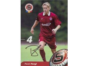 Karta, autogram Pavel Pergl, AC Sparta Praha (1)