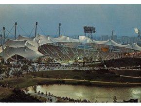 Pohlednice stadión MUNCHEN, Olympiastadion (1)