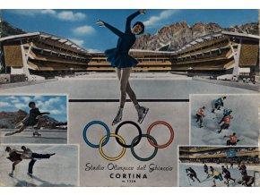 Pohlednice stadión, Cortina, Stadio Olimpica del Ghiaccio (1)