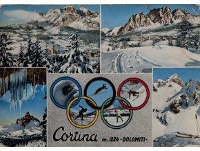 Pohlednice stadión, Cortina, Dolomiti (1)