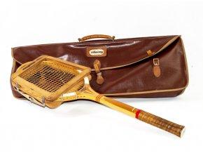 Tenisová raketa Slazenger, napínák, kožená taška (3)