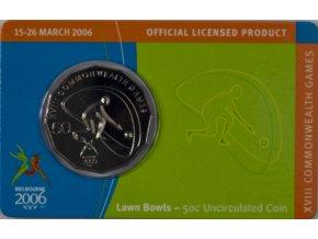 Pamětní mince 5O C DOLLARS , Mabourne, Lawn Bowls, 2006 (1)