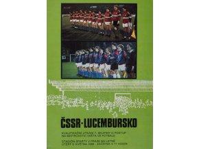 Program fotbal ČSSR v. Lucembursko, 1989