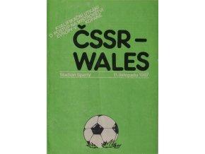 Program výběr ČSSR vs. Wales, 1987