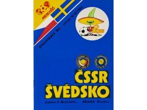 Program fotbal ČSSR vs. Švédsko, 1985