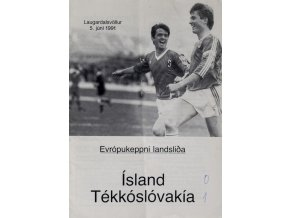 Program fotbal Island v. Tékósloóvakía, 1991